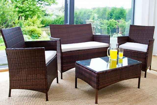 4-Seater Rattan Furniture(Glass center table inclusive)